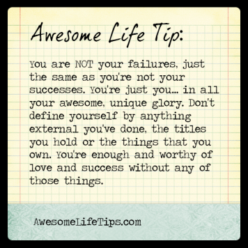 Awesome life tip define yourself