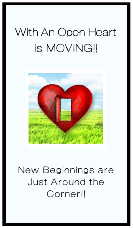 New Beginnings with an open heart